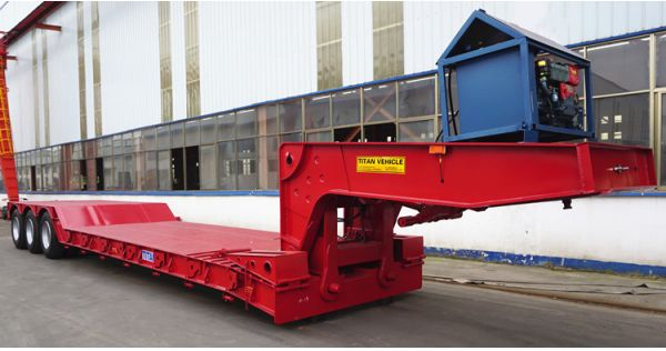 80 tons removable gooseneck RGN lowboy trailer for sale in Tanzania