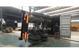 TITAN 20ft Container trailer has delivered to Malaysia