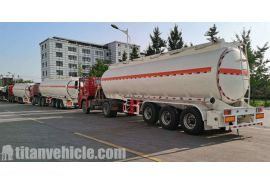 Guyana customers' 3 Axle fuel tanker trailer has finished