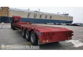 80T lowbed semi trailer will be send to Namibia