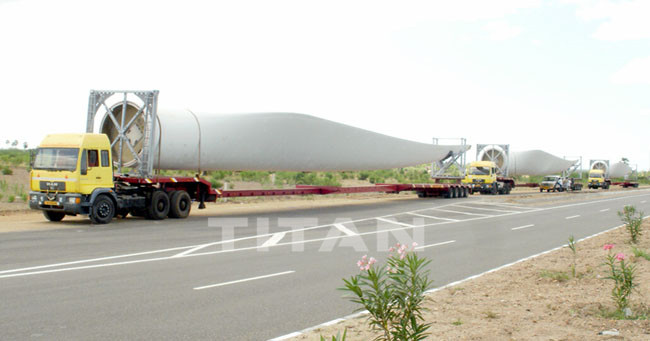 Extendable Telescopic Blade Semi Trailer for Windmill Turbine Blade Transportation