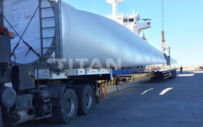 TITAN Wind Turbine Blade Trailer for Windmill Turbine Blade Transport