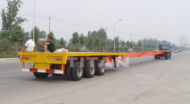 Extendable Telescopic Blade Trailer for Wind Blade