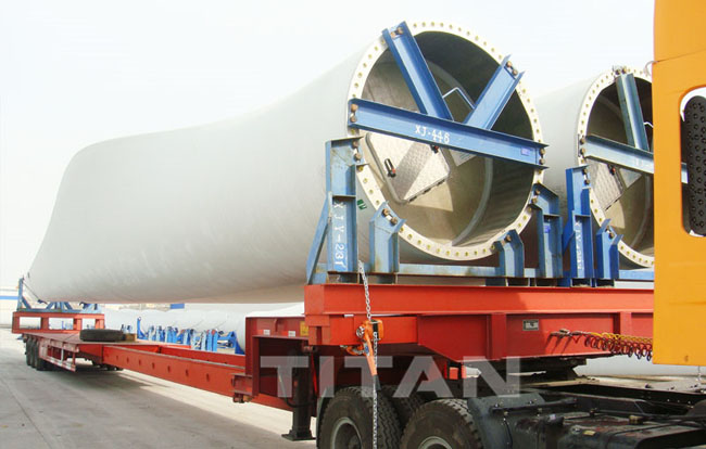 Wind Blade Carrier Transporter Stretchable Trailer for Transporting Wind Blade