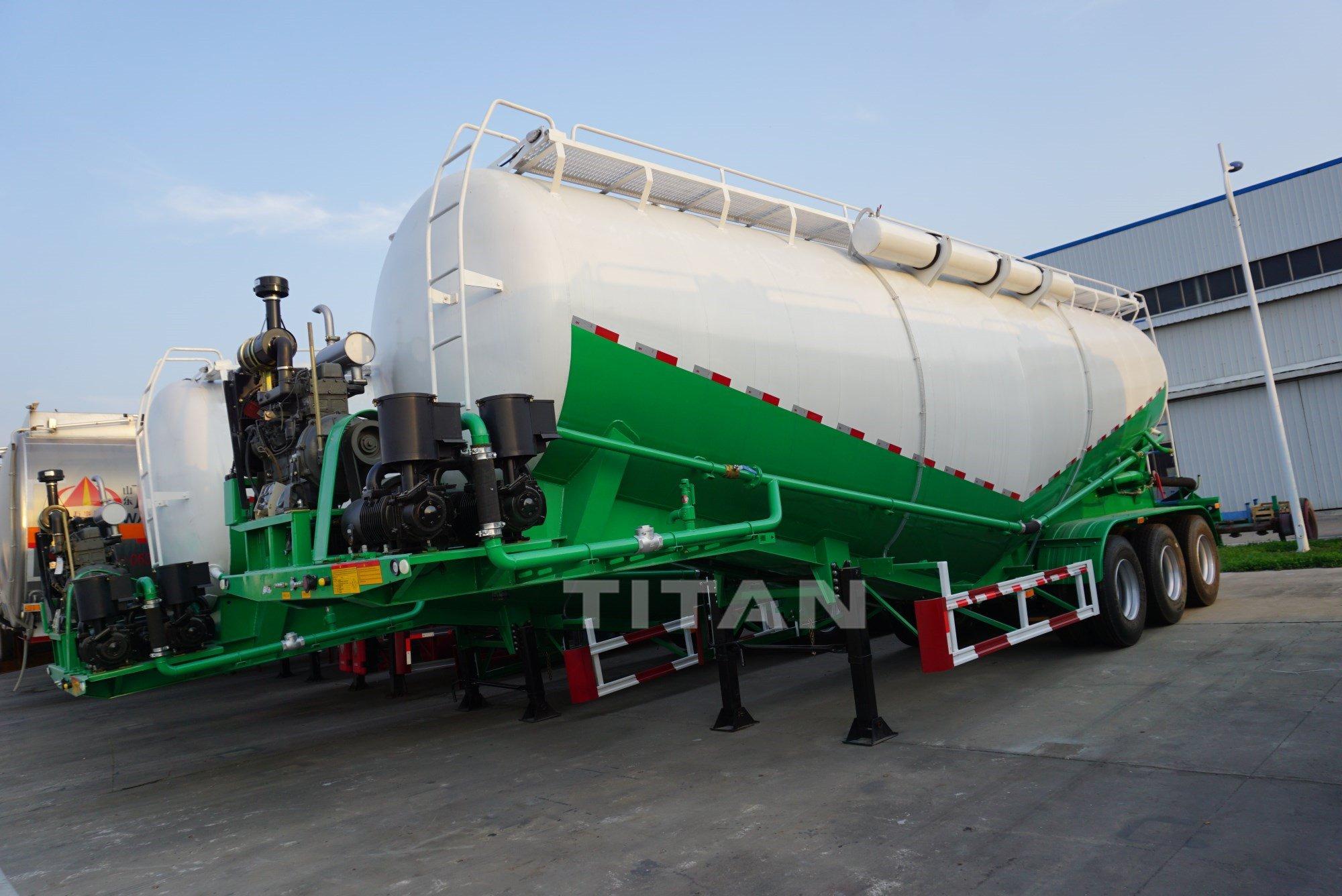 bulk lime powder goods truck trailer