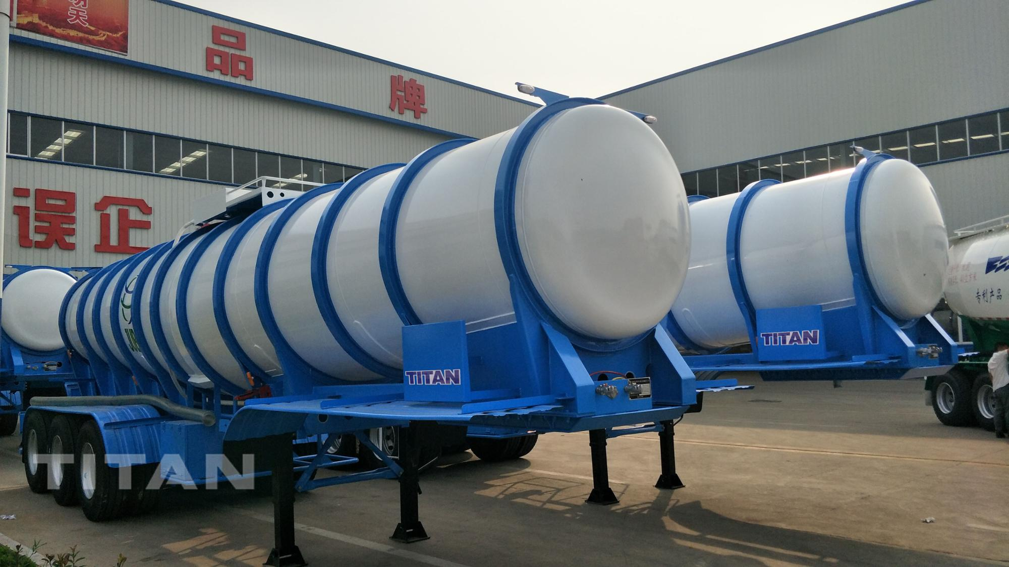 small tank chemical transport 19m3 Tri-axle 98% sulfuric acid tanker semi trailer for sale