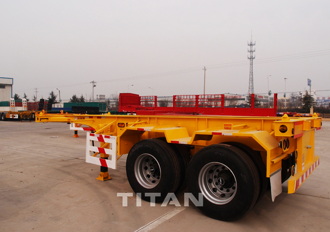 2 axle 20 foot container trailer