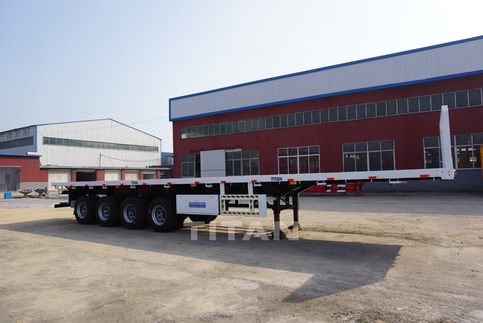 4 Axles Flat Bed Trailer