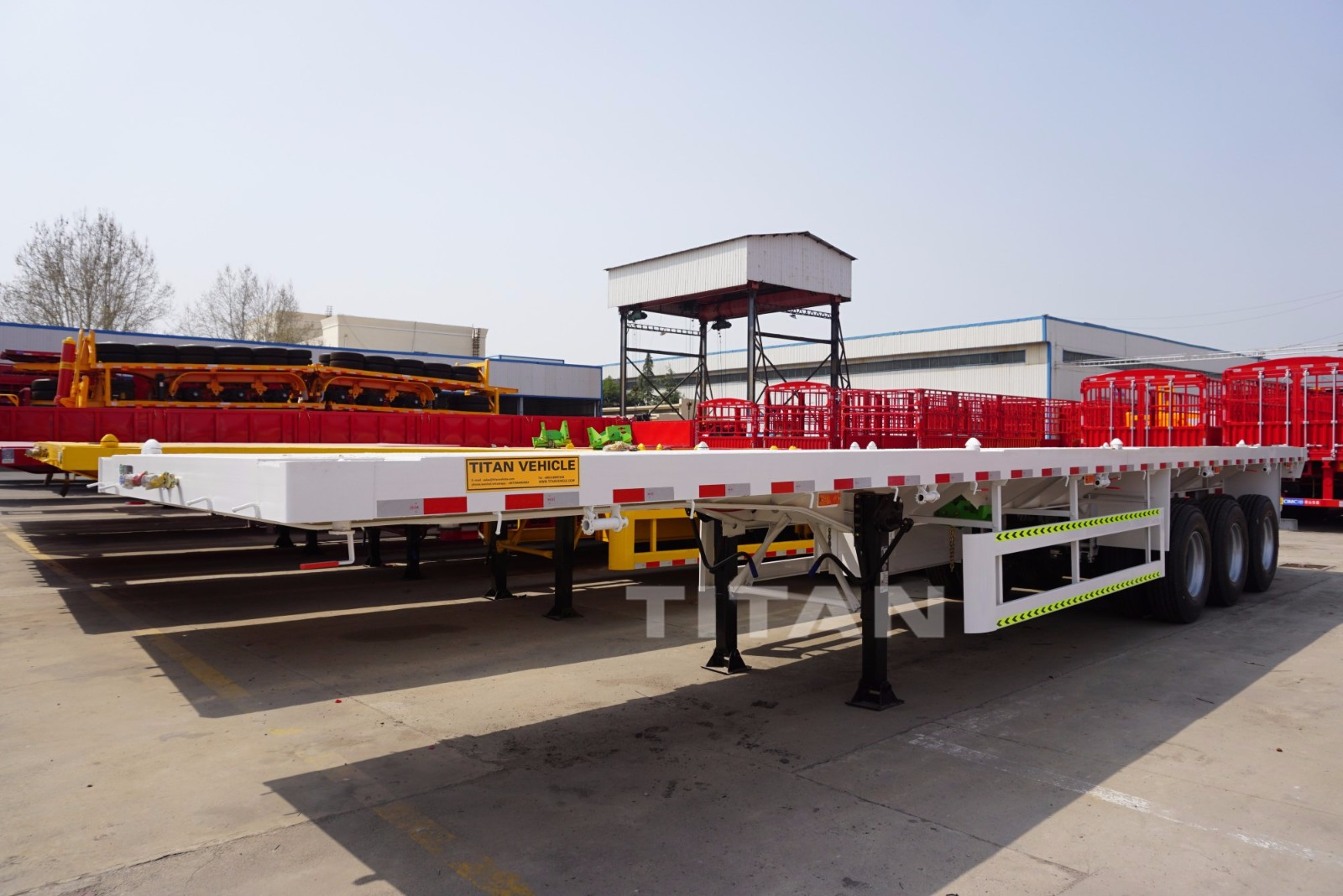 3 Axles semi flatbed trailers for sale