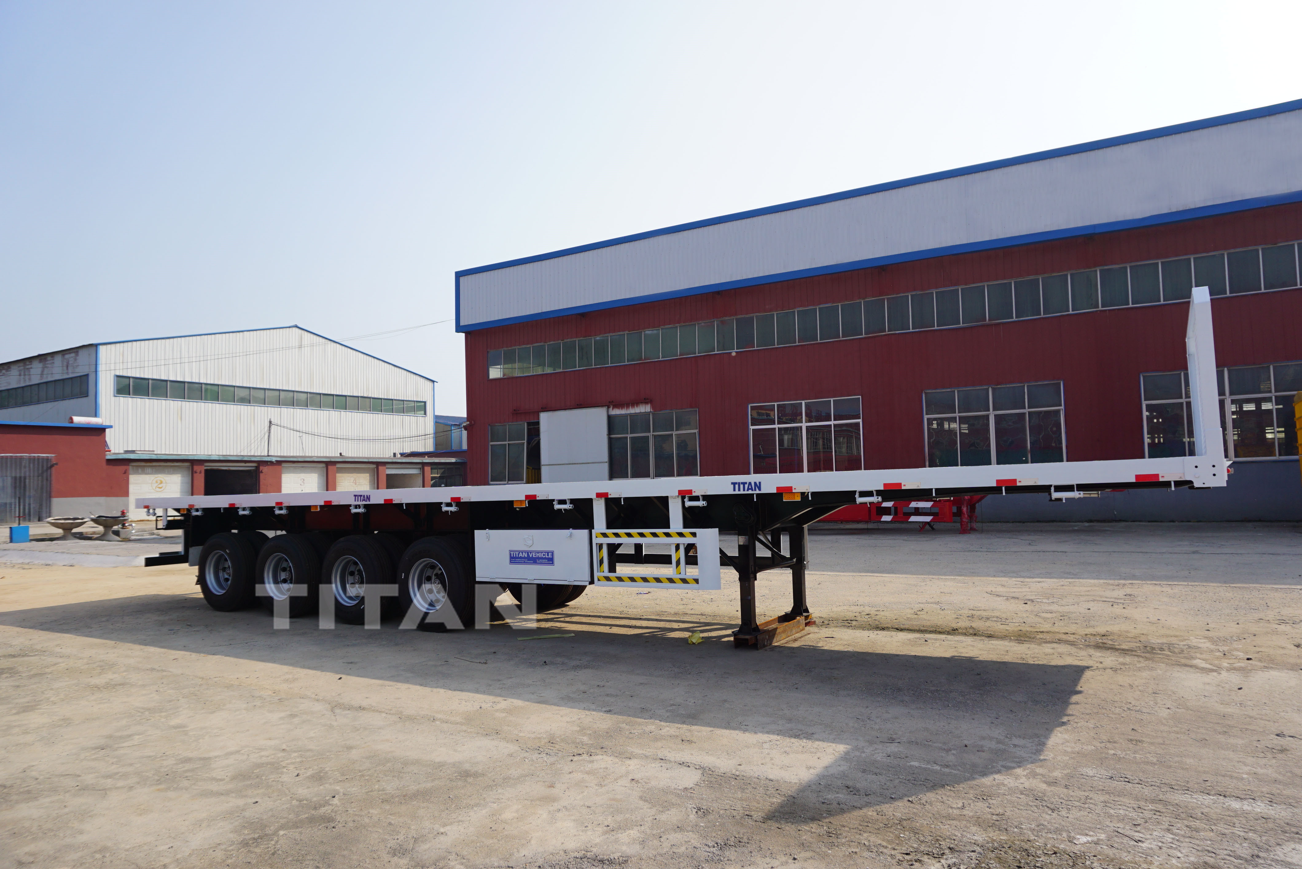 4 Axles Flat Bed Trailer with front board
