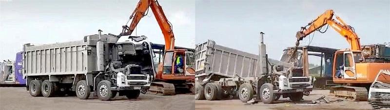 Truck dismantling