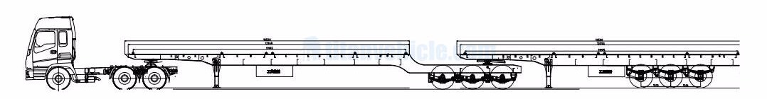 TITAN interlink flatbed trailer technical parameter drawing