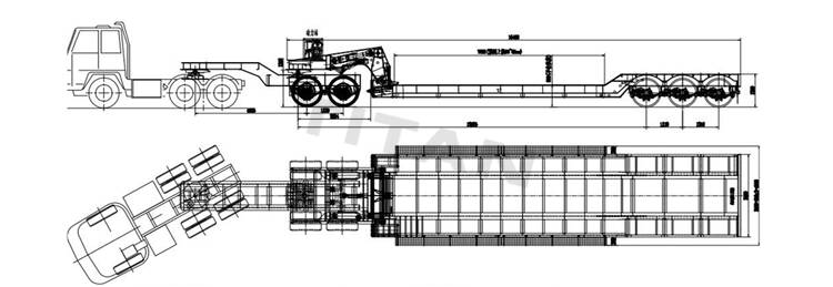 3 axle lowboy trailer with 2 axle dolly technical specification