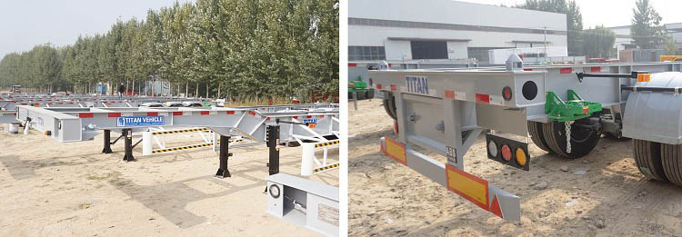 Container chassis trailer suspension