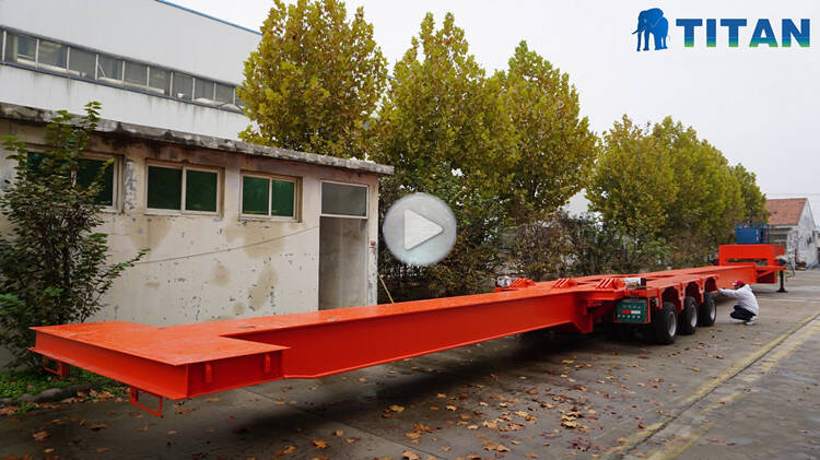 64m single beam extendable trailer
