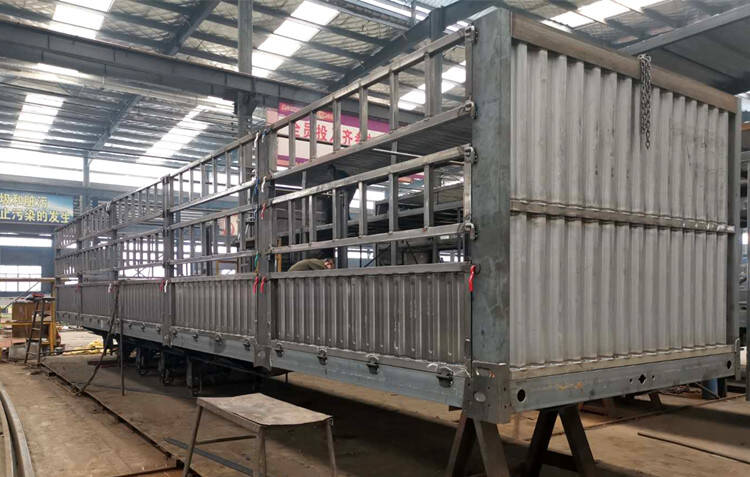 fence semi trailer frame in factory