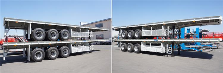 TITAN flatbed semi trailer package and shipping