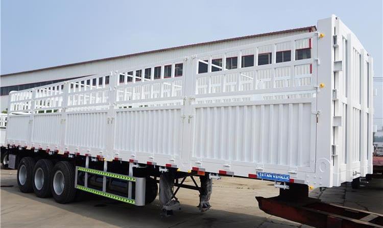 Tri Axle 60 Tons Fence Semi Trailer for Sale in Sudan