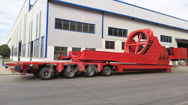 Wind Turbine Transport Vehicles - Modular Trailer with Rotor Blade Adapter