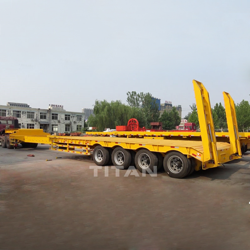 Extendable lowbed trailer