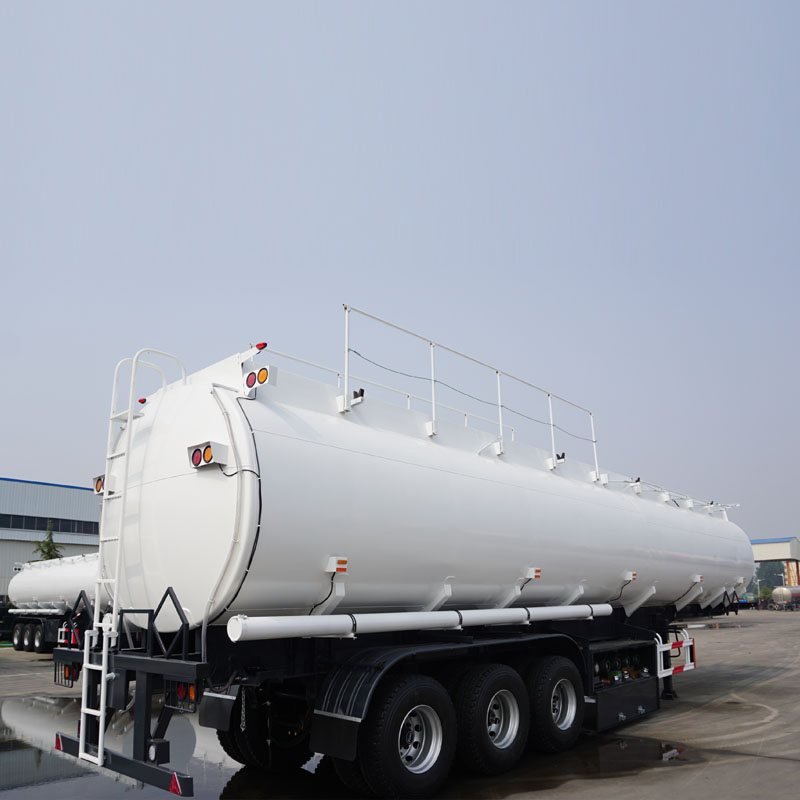 40000 liters 45000 liters fuel tanker trailer with single tire for sale