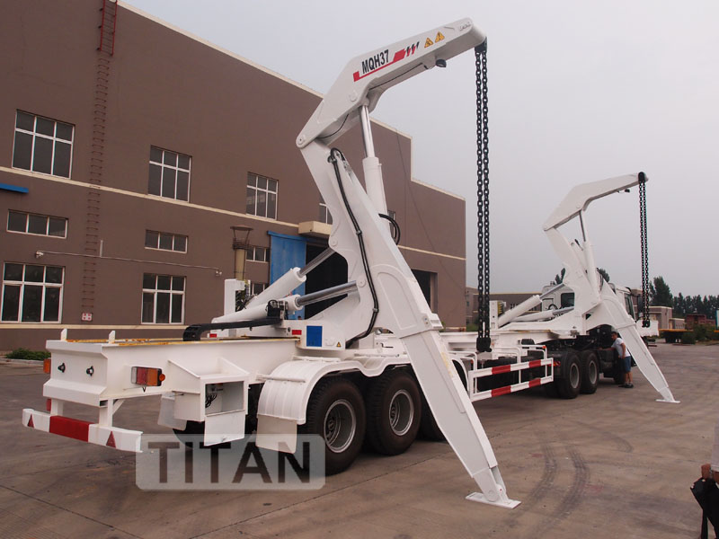 40ft Container Side Loader, Side Lifter Trailer with 42 ton lifting capacity | TITAN