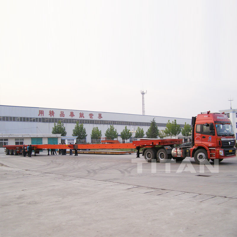 Extendable Trailer Wind Blade Transporter for 45 meters 60 meters Wind Blade