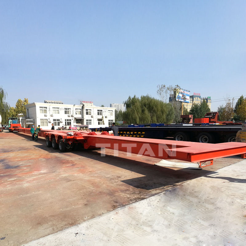 titan extendable modular windmill turbine blade trailer for carrying