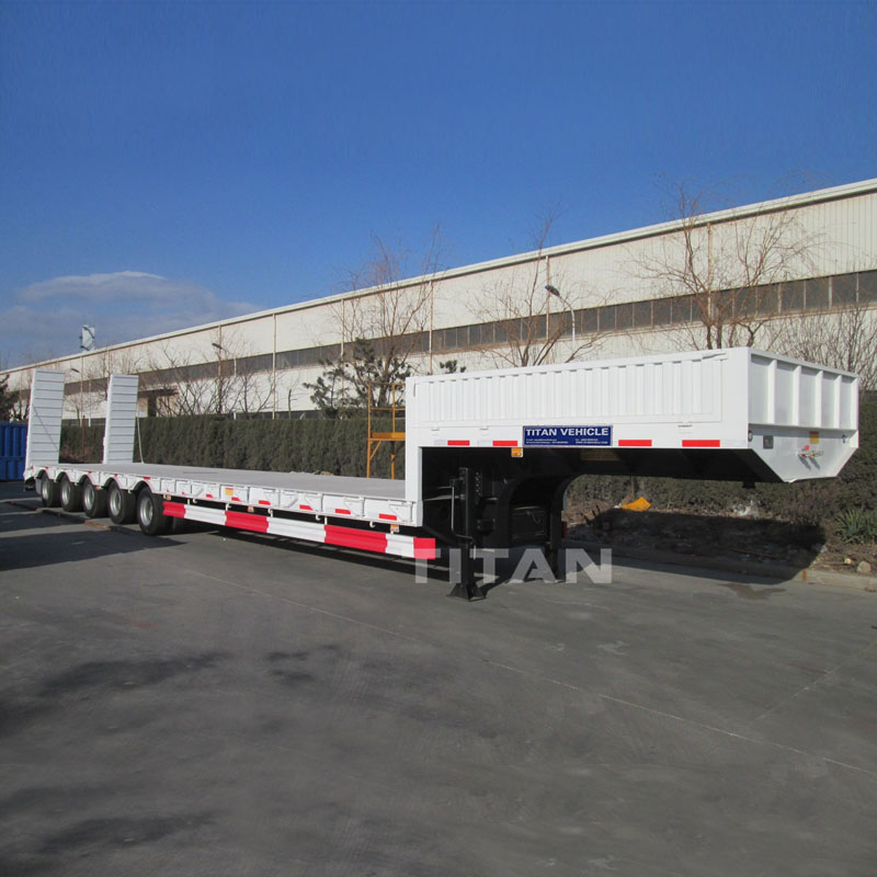 Low loaders semi Trailer with sidewall