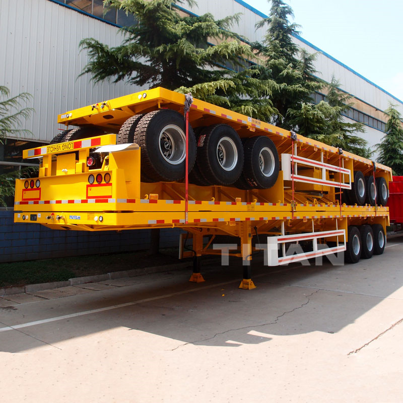 tri-axle flat-bed trailer