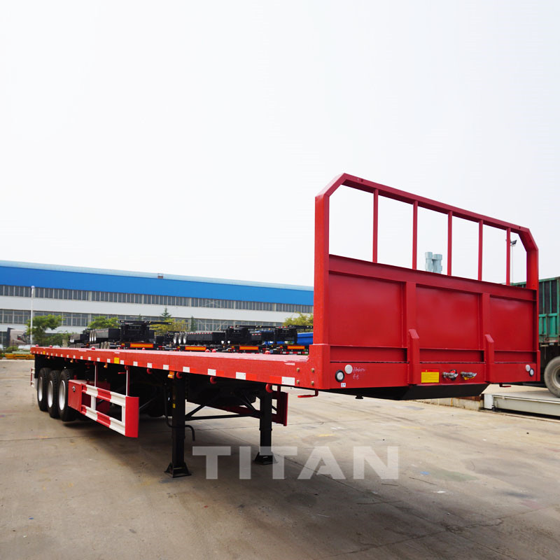 Flatbed Trailer with front wall