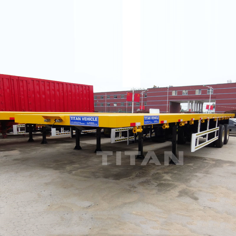 20ft 40ft Shipping Container Transport Trailer Tri Axle