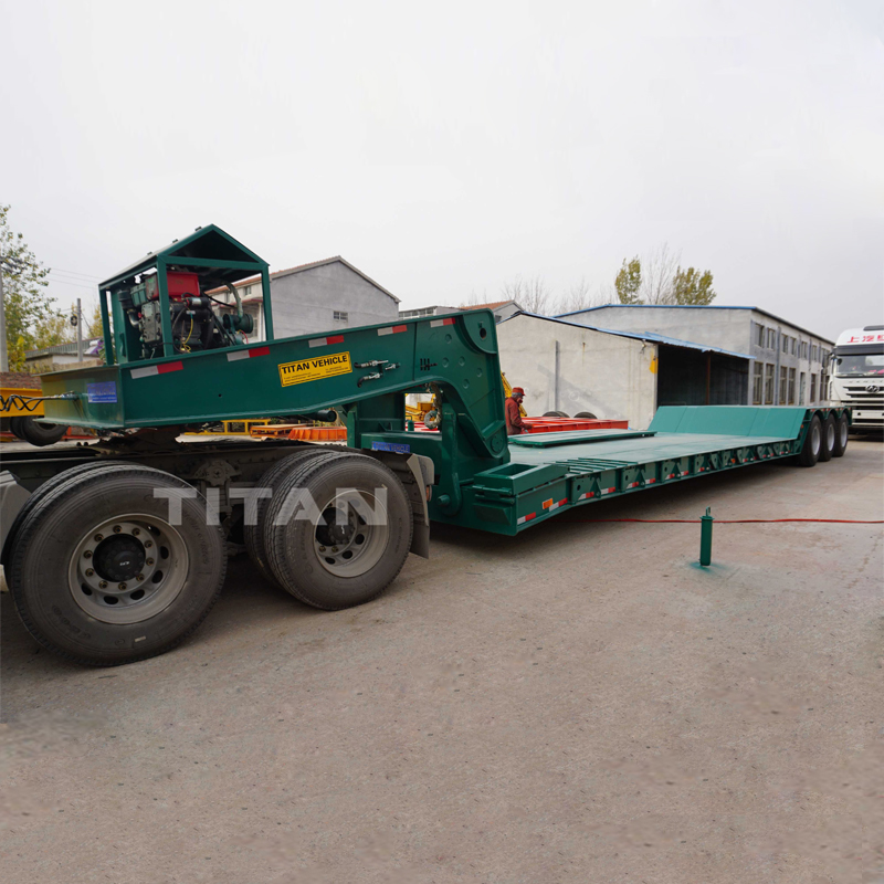 80 Ton Detachable Gooseneck Lowboy Trailer