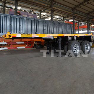 20 foot flatbed container trailer