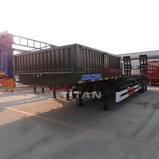 40 tons low bed truck trailer