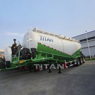 40 ton bulk lime powder tanker semi trailer
