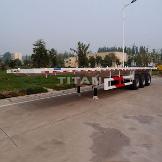 3 Axles 40ft Flatbed Trailer