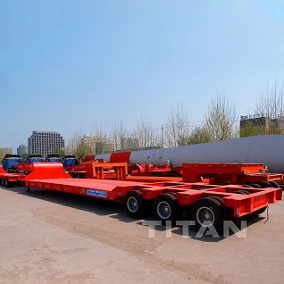Heavy duty 3 line 6 axles 130 ton low bed trailer