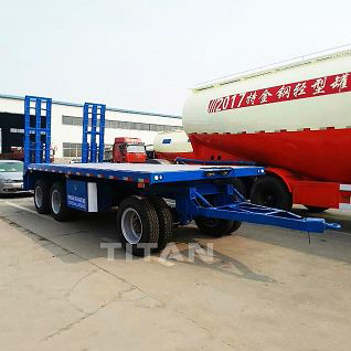 draw bar lowbed semi trailer