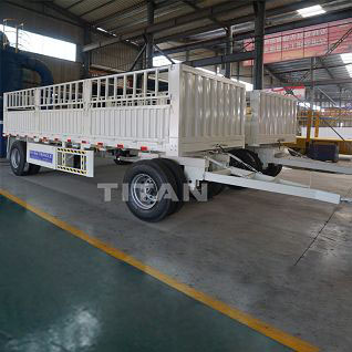 TITAN 3 axles drawbar trailer with 30 ton loading capacity
