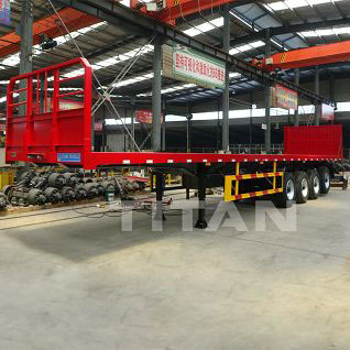 4 Axles flatbed semi trailer