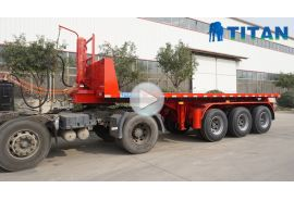 Flatbed tipper semi trailer
