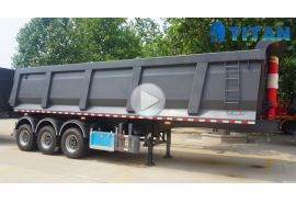 33cbm dump semi trailer